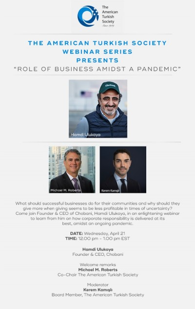 Role of Business Amidst a Pandemic with Hamdi Ulukaya
